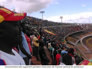 exécution hymne supporters lions indomptables