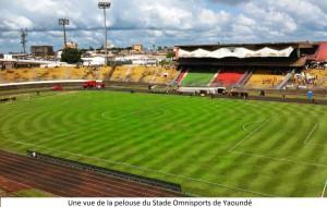 pelouse stade omnisports yaoundé